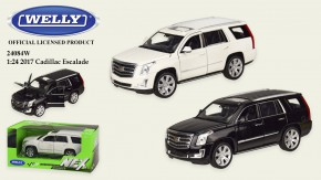 "Машина метал ""WELLY""1:27 CADILLAC ESCALADE,откр.двери,капот,2 цвета,в кор.23*11*10 см,19*7.5*7 см /24-4/"