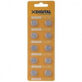 Батарейки X-Digital AG13  alkaline блистер 1.5V /10/