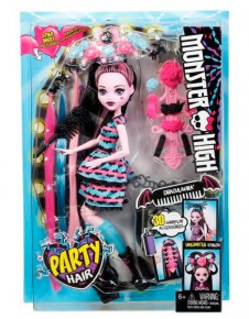 "Кукла ""Monster High""Party Hair"" шарнирная,заколки,цветные пряди,расческа,  в кор. /60-2/"